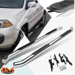 """For 01-08 Acura MDX/Honda Pilot Round 3"""" Side Step Nerf Bar Running Board Chrome"""