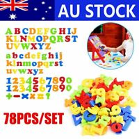 78PCS Magnetic Numbers Letters Alphabet Learning Toy Fridge Magnets Xmas gift AU