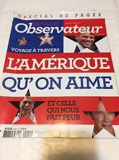 Le nouvel OBSERVATEUR n° 2502 du 18/10/2012*SPÉCIAL Voyage en AMÉRIQUE*SARKOZY*