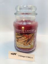 *NEW* YANKEE CANDLE CO. SCENTED SPARKLING CINNAMON -LARGE (22 oz) JAR Festive