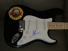 AXL ROSE SIGNED GUNS N' ROSES STRAT STYLE BAND LOGO DECAL AUTOGRAPHED GUITAR GNR