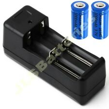 Dual Battery Charger  + 2 X CR123A rechargeable batteries Li-ion
