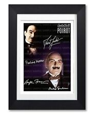POIROT CAST SIGNED POSTER PRINT TV SHOW SERIES SEASON PHOTO AUTOGRAPH GIFT