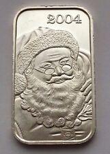 2004 HOLIDAY SEASON SILVER .999 FINE ONE OUNCE BAR