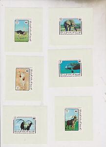 MAURITANIA 1978,FAUNA,animals WWF single proofs set,MNH #