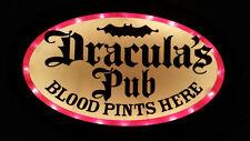Draculas Pub Bar Light Blood Pints Here Sign Cool Man Cave Decor Halloween Works