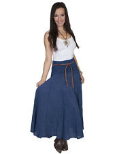 WOMENS LADIES SCULLY WESTERN FULL LENGTH SKIRT CHARCOAL GRAY DARK BLUE S M L XL