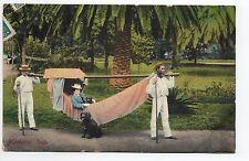 PORTUGAL MADEIRE Madeira rede hamac femme porteur chien parc palmier