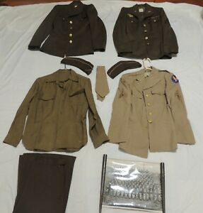 8 Original Pieces & Photograph - WWII WAAC WAC US Army Woman's Uniform 1940's