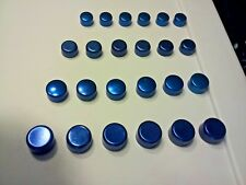 CHEVY Blue Motor Engine Bolts Caps Covers Dress-up Kit set 24 4 sizes NOS MALIBU