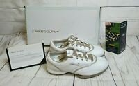 New Women's Nike Air Zoom Gem leather White Golf Shoes Size 7.5 Wide msrp $155