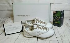 New Women's Nike Air Zoom Gem leather White Golf Shoes Size 9 msrp $155