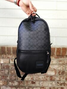 NWT Coach 87988 Pacer Backpack In Signature Canvas With Coach Patch Org $395