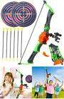 Bow and Arrow Toy for Kids Outdoor Archery Set Girls Boys Playset with Targets