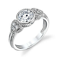 Sterling Silver Bridal CZ Engagement Wedding Ring Cubic Zirconia Heart Shape
