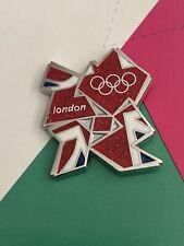 Londres 2012 olímpico brillante Insignia Pin Bandera Unión