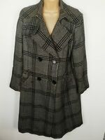 WOMENS WALLIS WOOL DOUBLE BREAST BUTTON UP SMART TRENCH COAT PLUS SIZE UK 16