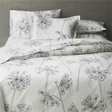NEW Crate & Barrel Marimekko Kevatesikko Black-White King Duvet Cover