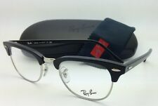 RAY-BAN CLUBMASTER Rx-able Eyeglasses/Frames RB 5154 2000 49-21 Black & Silver