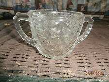 vintage glass sugar bowl very decorative  no lid pressed glass