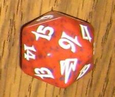 1 Red SPINDOWN Die Coldsnap - 20 sided Spin Down Dice MtG Magic the Gathering