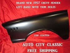 1957 Chevrolet Fender Left Driver Side With Trim Holes