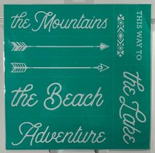 NIP Chalk Couture THIS WAY TO transfer RETIRED beach, lake, mountains, adventure