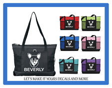CHIHUAHUA PUPPY DOG PERSONALIZE NAME TOTE PURSE SPORT GYM TRAVEL DIAPER BAG ZIPS