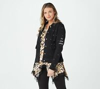 Women with Control My Wonder Denim Affirmation Jacket (Black, XS) A375913