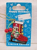 Pin 81151 WDW - Ice Skate Ornament - Chip 'n Dale  Happy Holidays 2010  NOC