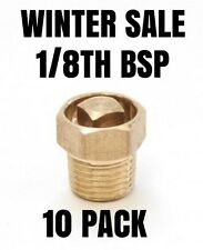 "Radiator - Bleed Air  Valve Screw / Vent 1/8"" Brass - FIT HOLE 9.6mm   10 PACK"