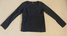 H&M MAMA Size M Black Maternity Blouse - Cotton Blend