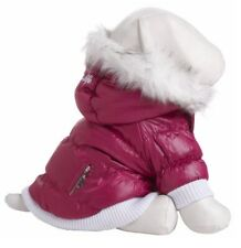 Pet Life Insulated Pet Dog Coat Jacket Parka w/ Removable Hood X-small Hot Pink