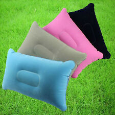 Double Sided+Inflatable Pillow Mat Cushion For Camping Picnic Travel Colors Hot