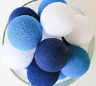20 COOL COLOR TONE COTTON BALL STRING LIGHTS CE UL - BEDROOM WEDDING PATIO PARTY