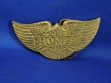 Vintage 1970's Honda Motorcycles Solid Brass Belt Buckle- Wings Logo #794