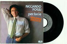 """RICCARDO FOGLI/I POOH - PER LUCIA/ALTRI TEMPI 7"""", EUROVISION 1983, GERMANY. RARO"""