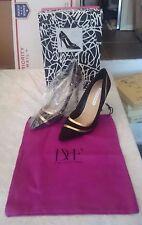 Women's Diane von Furstenberg 'Bandele' Pointy Toe Pump size 9M Black Gold NEW!