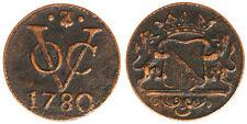 1 DUIT 1780 EST INDIA OLANDESE NETHERLANDS EAST INDIES #1244A