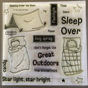 Close To My Heart CTMH Under The Stars D1155 Stamps Camping Outdoors Tent