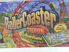 """2002 Roller Coaster Tycoon Board Game Giant 20"""" X 30"""" Game Board"""