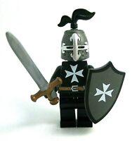 Lego Custom KNIGHT HOSPITALLER w/ Shield, Armor, Weapons -Castle- NEW