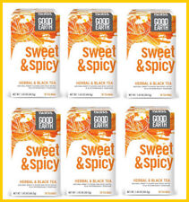 Good Earth Sweet and Spicy Herbal and Black Tea, 18 Count Tea Bags (Pack Of 6)