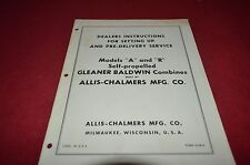 Allis Chalmers A & R Combine Setting Up Manual YABE8
