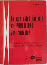 Lo Que Usted Invierte en Publicidad. Es rentable?. Libro