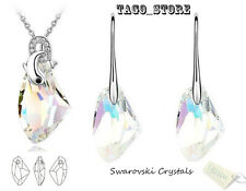 Sparkling Made with Swarovski White Crystal Necklace Pendant Earring Set
