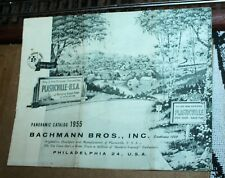 An original Plasticville 'O' and 'S' gauge 1955 Panoramic green/white Catalog.