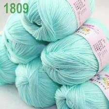 Sale New Lot 6ballsx50g Soft Cashmere Silk Velvet Children Hand Knitting Yarn 09