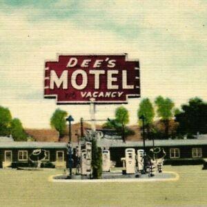 Vintage Postcard - Linen Posted Dee's Motel Highway 91 Beaver Utah UT #7868