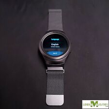[6723]Great! Samsung Gear S2 R730A Dark Gray + Stainless Steel Band